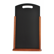 Berties Dark Wood Large Table Chalkboard 21x45cm