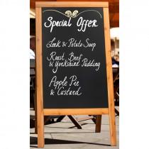 Berties Teak Sandwich A-Board 20x120cm