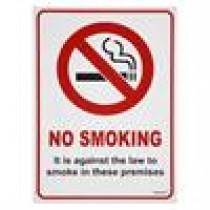 "Berties ""No Smoking"" Sign Plastic A5"