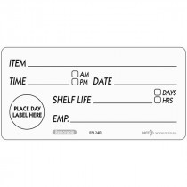 Berties 50x100mm Removable Shelf Life Label
