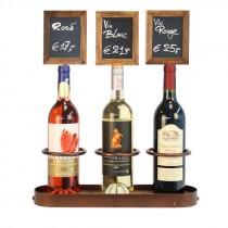 Berties 3 Wine Bottle Chalk Board Display 45 x 38.5cm