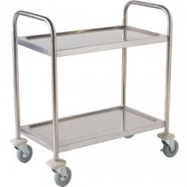 Berties Stainless Steel Clearing Trolley 2 Tier (Fully Welded) 86x53x93cm