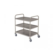 Berties Stainless Steel Clearing Trolley 3 Tier (Fully Welded) 86x53x93cm