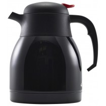Genware Push Button Vacuum Jug Black 1.2L