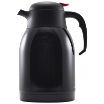 Genware Push Button Vacuum Jug Black 2L