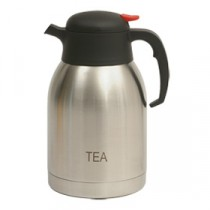 Genware Inscribed Push Button Vacuum Jug 2L Tea