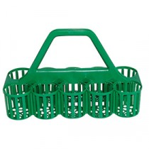 Berties Glass Carrier 10 Slot Green
