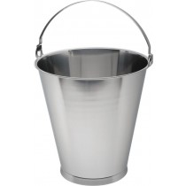Genware Stainless Steel Bucket Skirted Base Graduated 12L