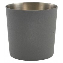 Genware Stainless Steel Serving Cup Iron Effect 8.5x8.5cm