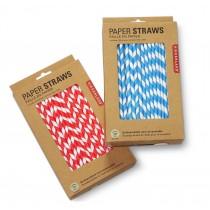 "Berties Paper Straw 8"" Blue & White Stripe"