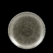 "Churchill Studio Prints Raku Coupe Plate Quartz Black 16.5cm-6.5"""