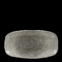 """Churchill Studio Prints Raku Chef's Plate No.3 Quartz Black 29.8x15.3cm-11.75x6"""""""