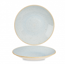 Churchill Stonecast Deep Coupe Plate Duck Egg Blue 25.5cm-10""