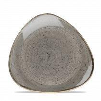 Churchill Stonecast Triangle Plate Peppercorn Grey 19.2cm-7.6""