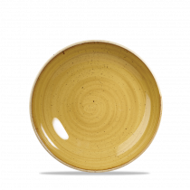 Churchill Stonecast Coupe Plate Mustard Seed Yellow 16.5cm-6.5""