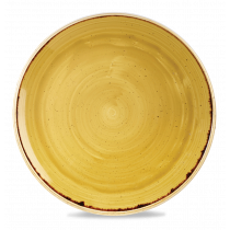 Churchill Stonecast Coupe Plate Mustard Seed Yellow 32.4cm-12.75""
