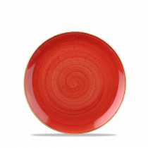 Churchill Stonecast Coupe Plate Berry Red 16.5cm-6.5""