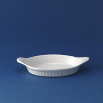 "Churchill White Oval Eared Dish 9""x5"""