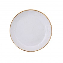 "Sango Java Coupe Plate Barley Cream 20cm-7.8"""