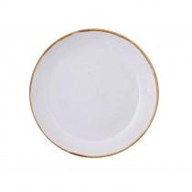 "Sango Java Coupe Plate Barley Cream 27cm-10.6"""