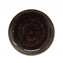 "Sango Java Coupe Plate Woodland Brown 33cm-13"""