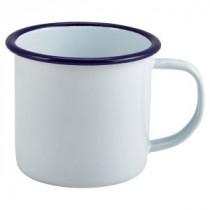 Berties Enamel Mug Blue Rim 36cl-12.5oz