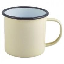 Berties Enamel Mug Cream 36cl-12.5oz