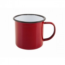 Berties Enamel Mug Red 36cl-12.5oz