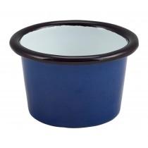 Berties Enamel Ramekin Blue with Black Rim 7cm Diameter 9cl-3.2oz