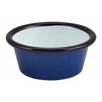Berties Enamel Ramekin Blue with Black Rim 8cm Diameter 9cl-3.2oz