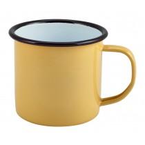 Berties Enamel Mug Yellow 36cl-12.5oz