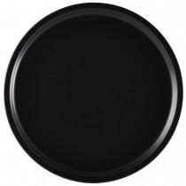 "Genware Luna Black Pizza Plate 33cm-13"" Diameter"