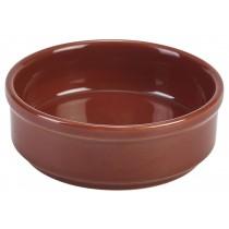Genware Terracotta Round Tapas Dish 10cm