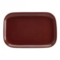 Terra Stoneware Rectangular Plate Red 34.5x23.5cm