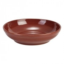 Terra Stoneware Coupe Bowl Red 27.5cm-10.75""