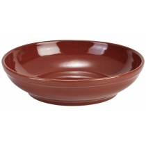 Terra Stoneware Rustic Coupe Bowl Red 23cm-9""