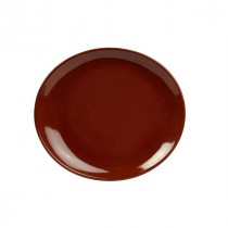 Terra Stoneware Oval Plate Red 25cm-9.8""