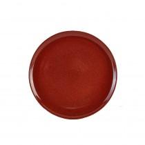 "Terra Stoneware Rustic Pizza Plate Red 33.5cm-13.25"""