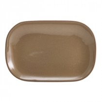 Terra Stoneware Rectangular Plate Brown 24x16.5cm