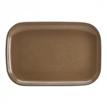 Terra Stoneware Rectangular Plate Brown 34.5x23.5cm