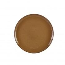 "Terra Stoneware Rustic Pizza Plate Brown 33.5cm-13.25"""
