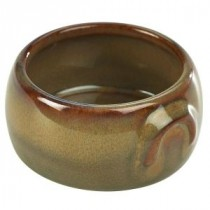 Terra Stoneware Butter Pot Brown 9cl-3oz