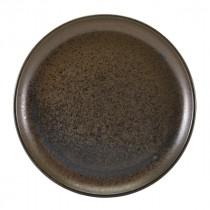 """Terra Porcelain Coupe Plate Black 27.5cm-10.75"""""""