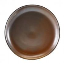"""Terra Porcelain Coupe Plate Rustic Copper 24cm-9.25"""""""