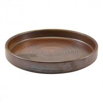 "Terra Porcelain Presentation Plate Rustic Copper 18cm-7"""