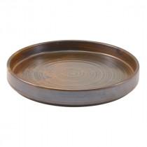 "Terra Porcelain Presentation Plate Rustic Copper 21cm-8.25"""