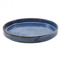 """Terra Porcelain Presentation Plate Aqua Blue 26cm-10.25"""""""