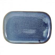 "Terra Porcelain Rectangular Plate Aqua Blue 29x19.5cm-11.4x7.7"""
