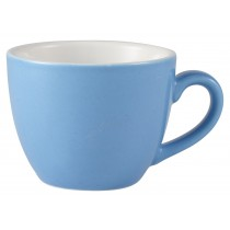 Genware Bowl Shaped Cup Blue 9cl-3oz