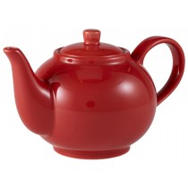 Genware Teapot Red 45cl-15.75oz
